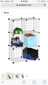 Wire cubicle storage with bins in Beaufort, South Carolina