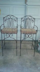 Wrought Iron Bar Stools Tall Chairs in CyFair, Texas