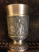 Vintage Germany Pewter Shot Glass SKS Zinn 95% Detailed Metal Hunting in Roseville, California