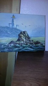 8 x 10 seascape signed oil painting in Beale AFB, California
