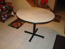 "KNOLL Furniture Made in CANADA 36"" Round Table Formica Top Steel Base  ~L@@K~ in Brookfield, Wisconsin"