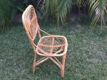 Wicker Rattan Chair Shabby Chic Asian in Oceanside, California
