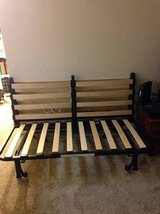 Queen Size Futon Frame IKEA folds into couch easily in Vacaville, California