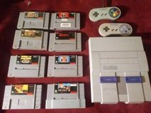 SNES w/ Games & Controllers in Hinesville, Georgia
