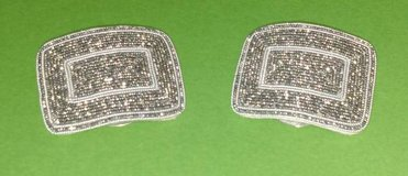 Antique French Cut Steel Shoe Buckle Clips in Lockport, Illinois