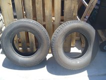 2 quanity bf goodrich a/t commercial tires lt225/75/r16 ler 115/1120 m+s tire in Fort Carson, Colorado