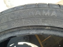 "1 quantity yokohama w-drive slim line touring tire 18"" rim 245/40r18 dot fdjx in Fort Carson, Colorado"