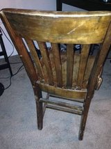 vintage solid wood chair in Roseville, California