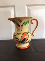 CZECH :VINTAGE HAND PAINTED ART POTTERY PITCHER in Warner Robins, Georgia