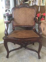 ~FRENCH PROVINCIAL ORNATE CANE ACCENT CHAIR~ in Morris, Illinois