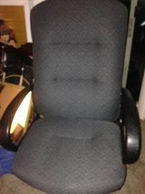 Adjustable High-Back Executive office Chair, grey Fabric in Beale AFB, California