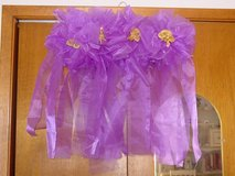 Bridal Pew Bows, Plus Table Covers (Purple) in Bartlett, Illinois