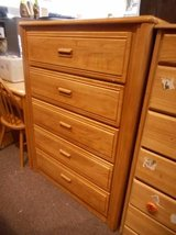 Simple Oak Dresser in Bartlett, Illinois