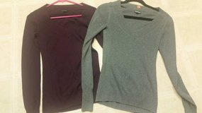 V-necked sweaters by Express in Camp Pendleton, California