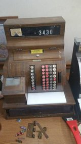 1950''s Electric Round Button Cash Register in DeKalb, Illinois