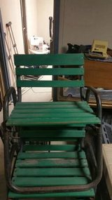 Vintage Steel and Wood Outdoor Patio Chairs- 8 available! in DeKalb, Illinois