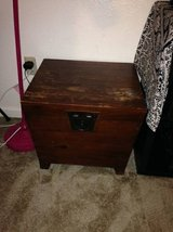 Storage Ottoman End Coffee Table Wood Box Chest Lid in Travis AFB, California