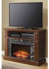 Whalen Electric Fireplace TV Stand (Cherry) - NEW! in Joliet, Illinois