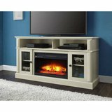 Barston Fireplace TV Stand (Antique White) - NEW! in Naperville, Illinois