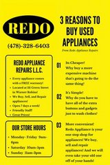 REFRIGERATORS STOVES WASHERS AND DRYERS WITH FREE WARRANTIES in Perry, Georgia