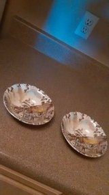 2 Soup Salad Bowls Vintage Dickens WH Grindley Staffordshire Coaching in Roseville, California