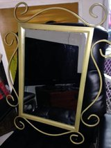 23 x 29 Art Deco Metal Framed Mirror in Beale AFB, California