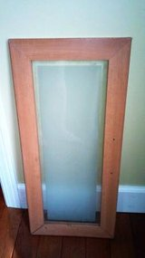 WOODEN FRAMED FROSTED GLASS PANEL in Aurora, Illinois