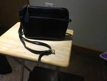 Coach purse, authentic, black leather in Batavia, Illinois