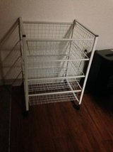 4-Tier white Rolling Multi Function Utility Cart w/ wire drawers in Roseville, California