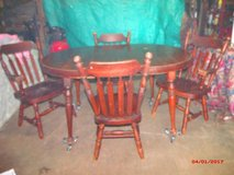"Table & 4 Chairs $75  ""The Back Forty"", Adel in Moody AFB, Georgia"