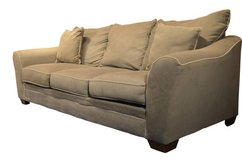 Sage green sofa/ couch with cream piping in Joliet, Illinois