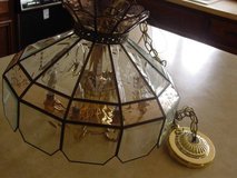 Vtg Large Tiffany Style Hanging Chandelier Lamp in Bartlett, Illinois