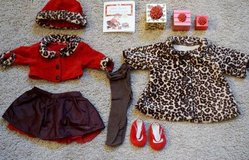 American Girl Bitty Baby Matching Outfit, Young Girl's Dress and Coat in Algonquin, Illinois