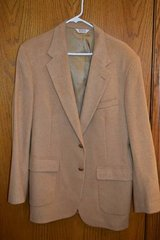 Men's Tan 100% Camel-Hair Blazer / Sportcoat - Size 43L in Elgin, Illinois