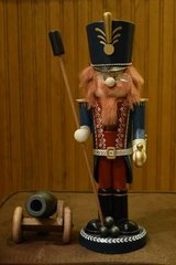 """Nutcracker Zim's Heirloom Collectibles 14"""" Soldier with Cannon #Z98-03 in Algonquin, Illinois"""