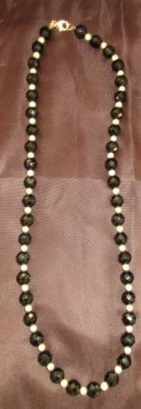 Necklace Black Onyx with Stardust Beads in Kaneohe Bay, Hawaii