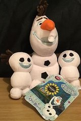"new disney store olaf & snowgies plush frozen fever 8"" set of 3 toys snowgie in Glendale Heights, Illinois"