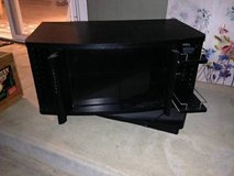 Black Entertainment center that swivels in Beale AFB, California