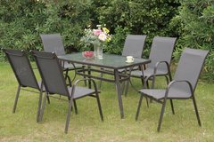 7-Piece Outdoor Set Patio Set Table + 6Chairs + Umbrella FREE DELIVERY in Oceanside, California
