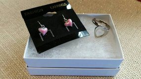 Valentine heart new earrings and adjustable ring in Oceanside, California