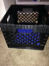 Industrial strength quality heavy duty plastic milk crate in Beale AFB, California