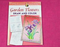creative haven garden flowers draw & color adult coloring book in Houston, Texas