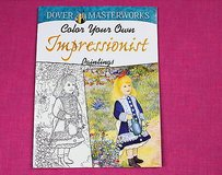 dover masterworks color your own impressionist paintings adult coloring book in Houston, Texas