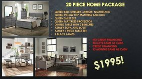** 20 PIECE ** QUEEN BED, SOFA, DINING HOME PACKAGE ** BRAND NEW ** in Nashville, Tennessee