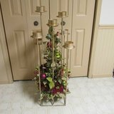 8 candle floor standing candle holder stand candlabra christmas decor in Algonquin, Illinois