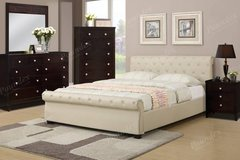 New Hazelnut Beige Queen Bed w/ Chest + Nighstand option FREE DELIVERY in Oceanside, California