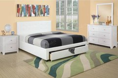 New QUEEN White Bed Set with Optional Dresser Nightstand FREE DELIVERY in Oceanside, California