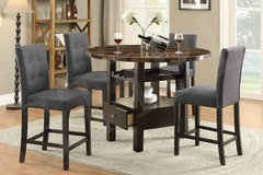 Round Table w/ Wine Shelf and Drawer + 4 Chairs FREE DELIVERY in Oceanside, California