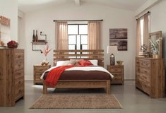 ** BRAND NEW ** ASHLEY QUEEN VINTAGE MODERN WOOD STYLE BED SET ** in Nashville, Tennessee