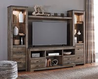 ** BRAND NEW ** ASHLEY RUSTIC INDUSTRIAL TV STAND ENTERTAINMENT ** in Nashville, Tennessee